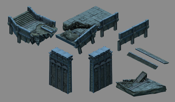 3D model underground - palace cliffs