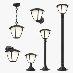 3D model lampione lightstar led street lamp