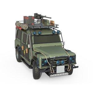 off-road war vehicle 3D model