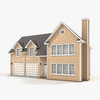 two-story cottage 80 3D model