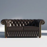 chesterfield seat furniture 3D