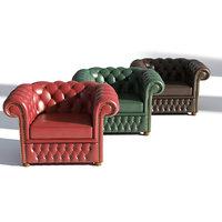 3D arm chair armchair model