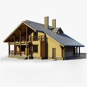 3D model gameready cottage 7