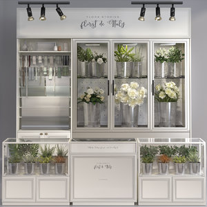 classic interior flower florist 3D model