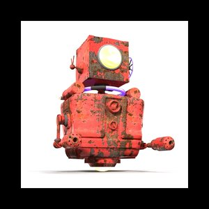 robot modeled 3D model