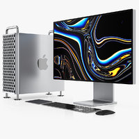 apple mac pro set 3D