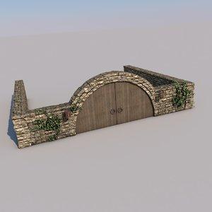 archway stonewalls stone model