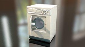 3D laundry washing machine model