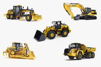 heavy vehicle excavator big 3d model