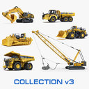 Collection mining heavy vehicle D575 WA1200 PC1250 830E-AC