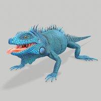 iguana blue 3D model
