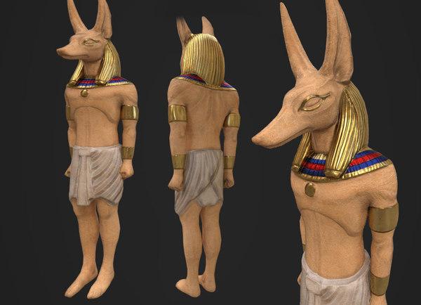 3D anubis statue model