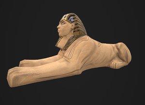 3D model spxinx statue
