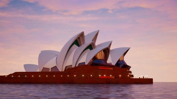 sydney opera house model