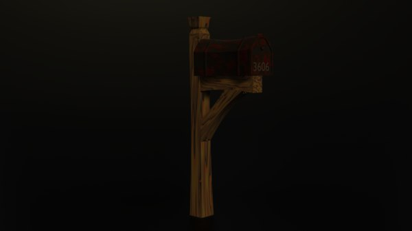 stylized mail box 3D model