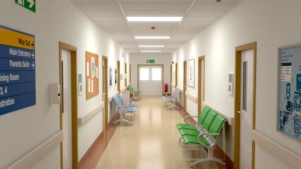 3D hospital hall model