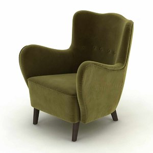 chair lounge mohair model