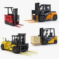 Collection of forklifts