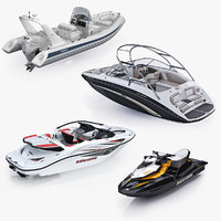 Collection of watercraft and boats bombardier sea-doo gti Yamaha 242 Limited Grand Silver Line Cruiser S650GL Mercury Verado 350