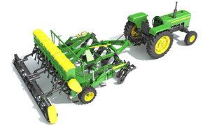 tractor disc harrow 3D