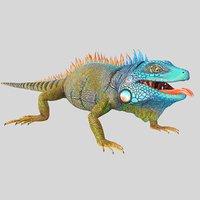 3D american iguana