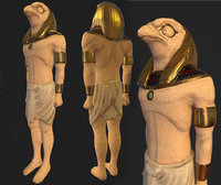 egyptian horus statue 3D model