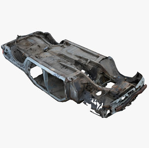 3D model wrecked car 3