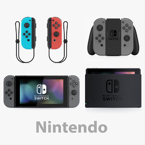 3D nintendo switch complete model