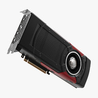 3D professional graphic video card model