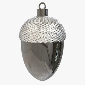 3D christmas ornament gland ball model