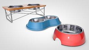 3D model pet bowls pack