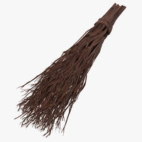 besom broom 3D model