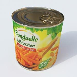 carrots vegetable food model