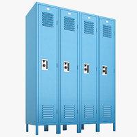 3D school lockers lock