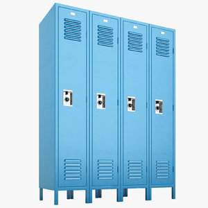 3D school lockers lock