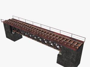 3D railway bridge model