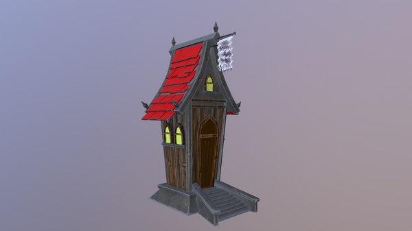 house cartoon 3D model