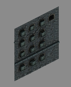 3D model underground - palace walls