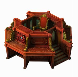 advanced library area - 3D model