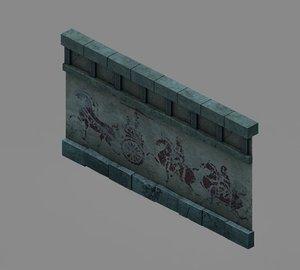3D underground - palace walls model