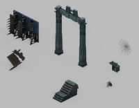 dungeon - arch 32 3D model