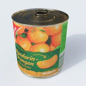 mandarines oranges model