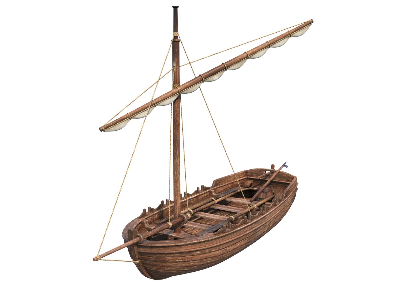 3D medieval boat