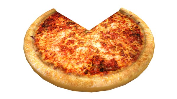 3D pizza italian model