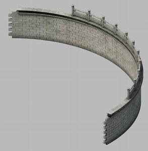 3D construction - diaoyutai bend model