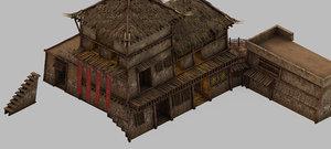 3D model desert - building inn