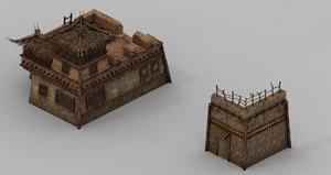 3D desert - building store model