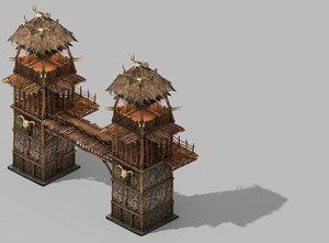 desert - architecture wall 3D model