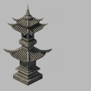 3D brothel - stone tower model