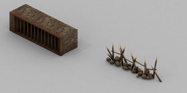 3D desert - building house